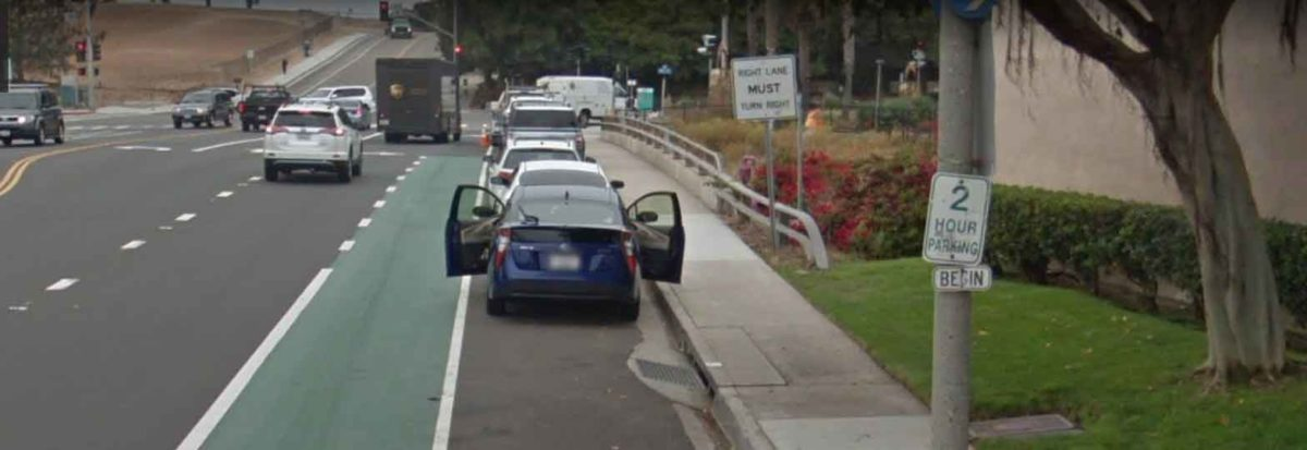 Many bike lanes put bicycle riders into more danger of the door zone of parked cars and moing cars close by, no way to avoid an opening door.
